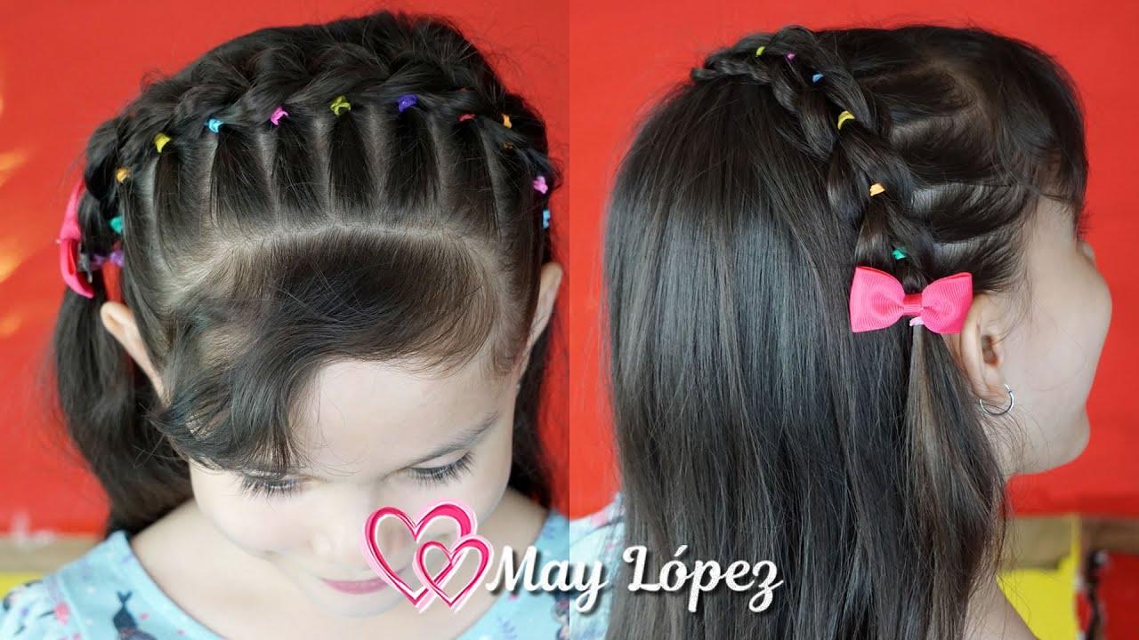 Diadema con Ligas de Colores para Niñas | May López