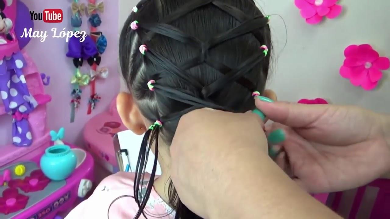 4 Bonitos y Fáciles peinados para Niñas | May López