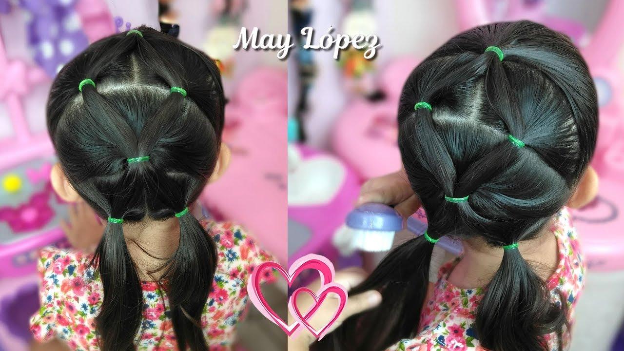 Peinado Facil Y Bonito Con Ligas Para Ninas Peinados 2018 May