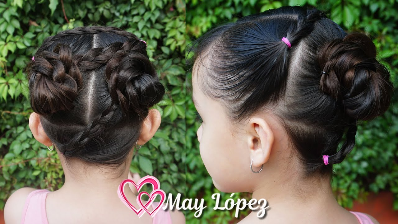 Peinado para niñas con chonguitos para el calor | Hairstyles for Girls | May López