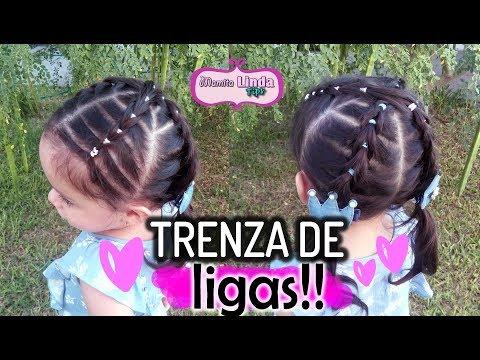 Peinado Para Ninas Facil Con Ligas Y Brillos Nueva Tecnica May