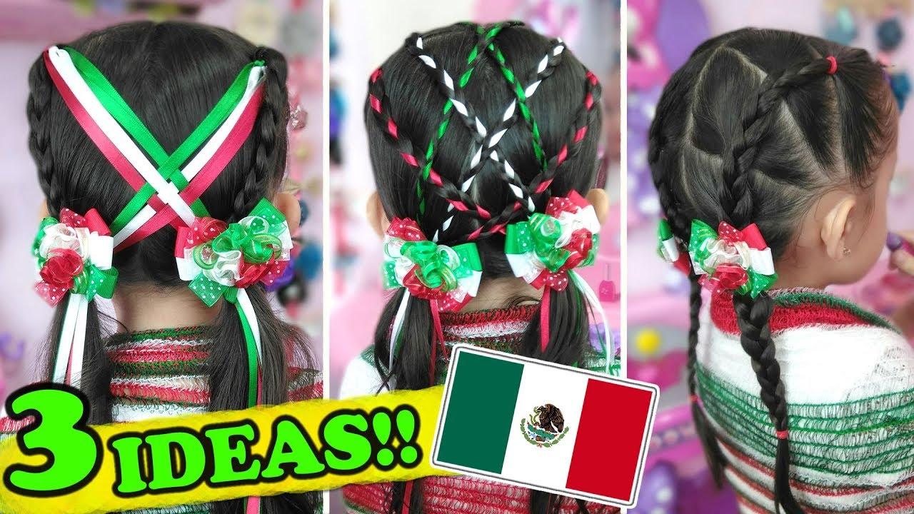 Peinados para las FIESTAS PATRIAS 2019 | Peinados mexicanos PARA NIÑAS