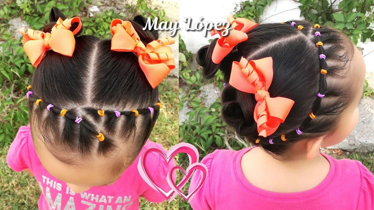 Peinado Para Ninas Facil Tipo Diadema Con Ligas Y Trenzas May
