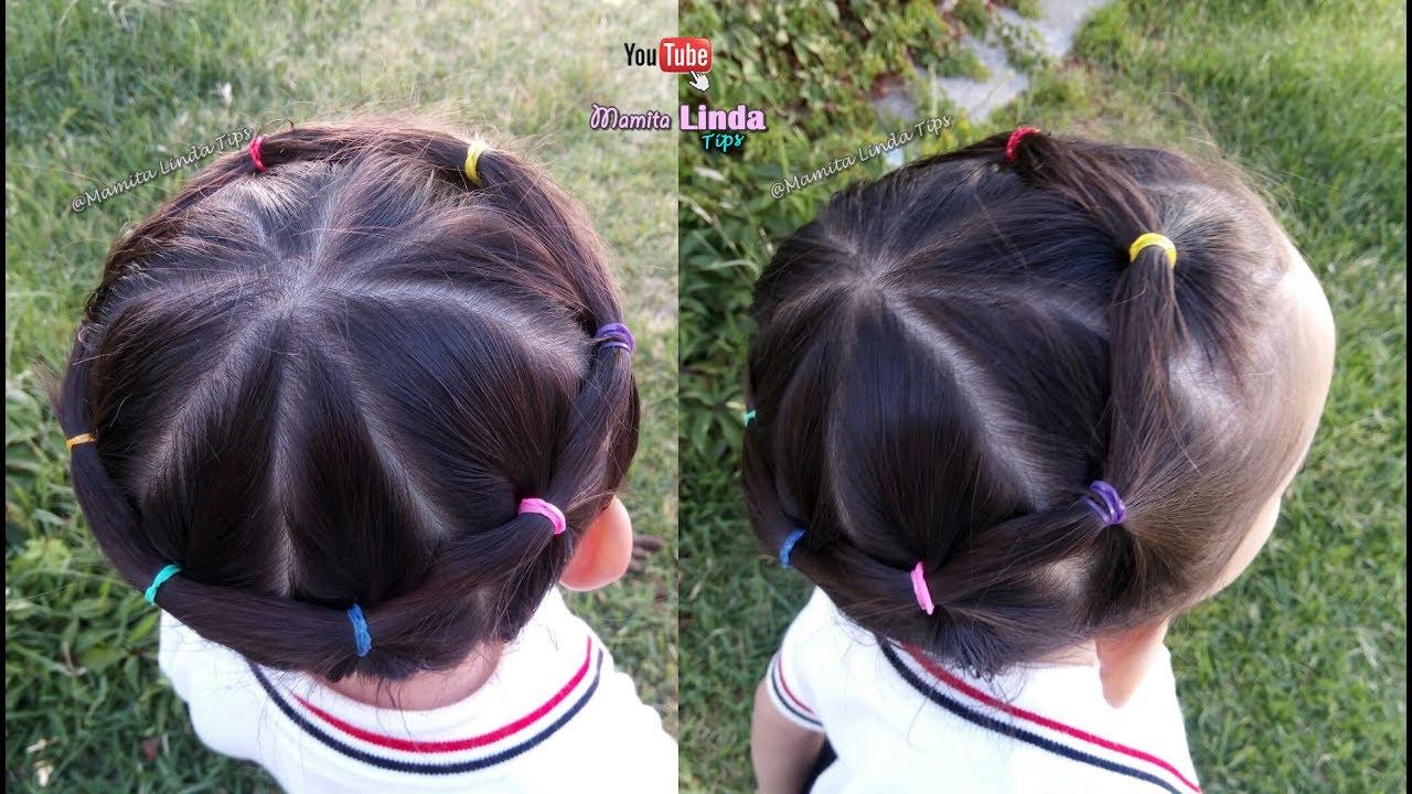 Peinado Para Ninas Con Ligas Arcoiris Unicornio Peinados Para La