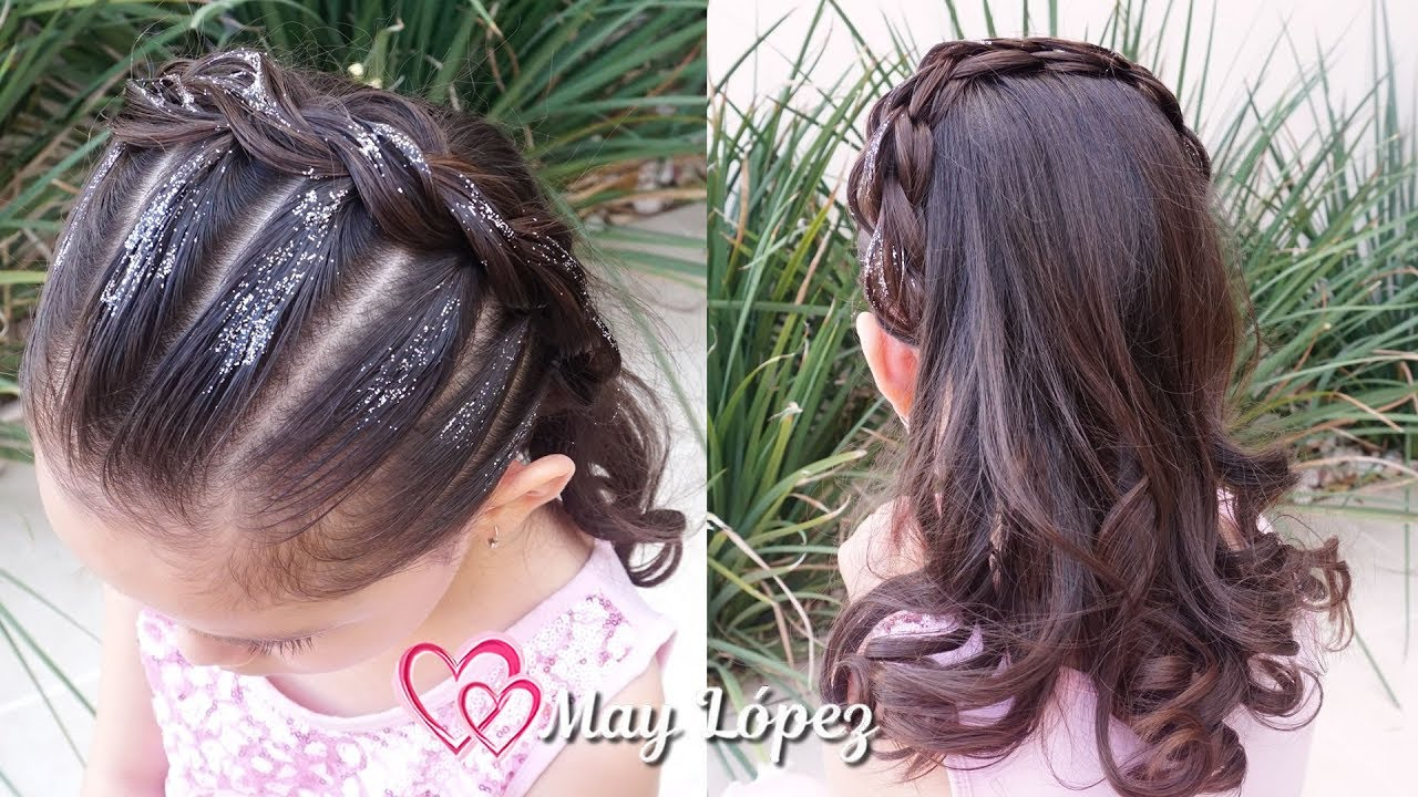 PEINADO ELEGANTE CON PELO SUELTO PARA GRADUACION |  Peinados para Niñas | May López