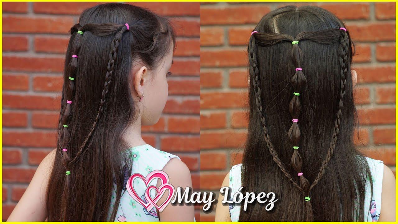Hermoso peinado con Cabello suelto para Niñas