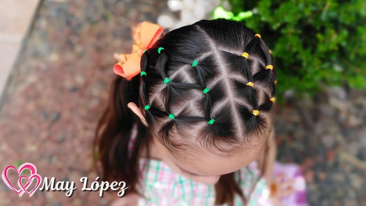 Peinado con ligas de colores facil de hacer | Peinados para Niñas