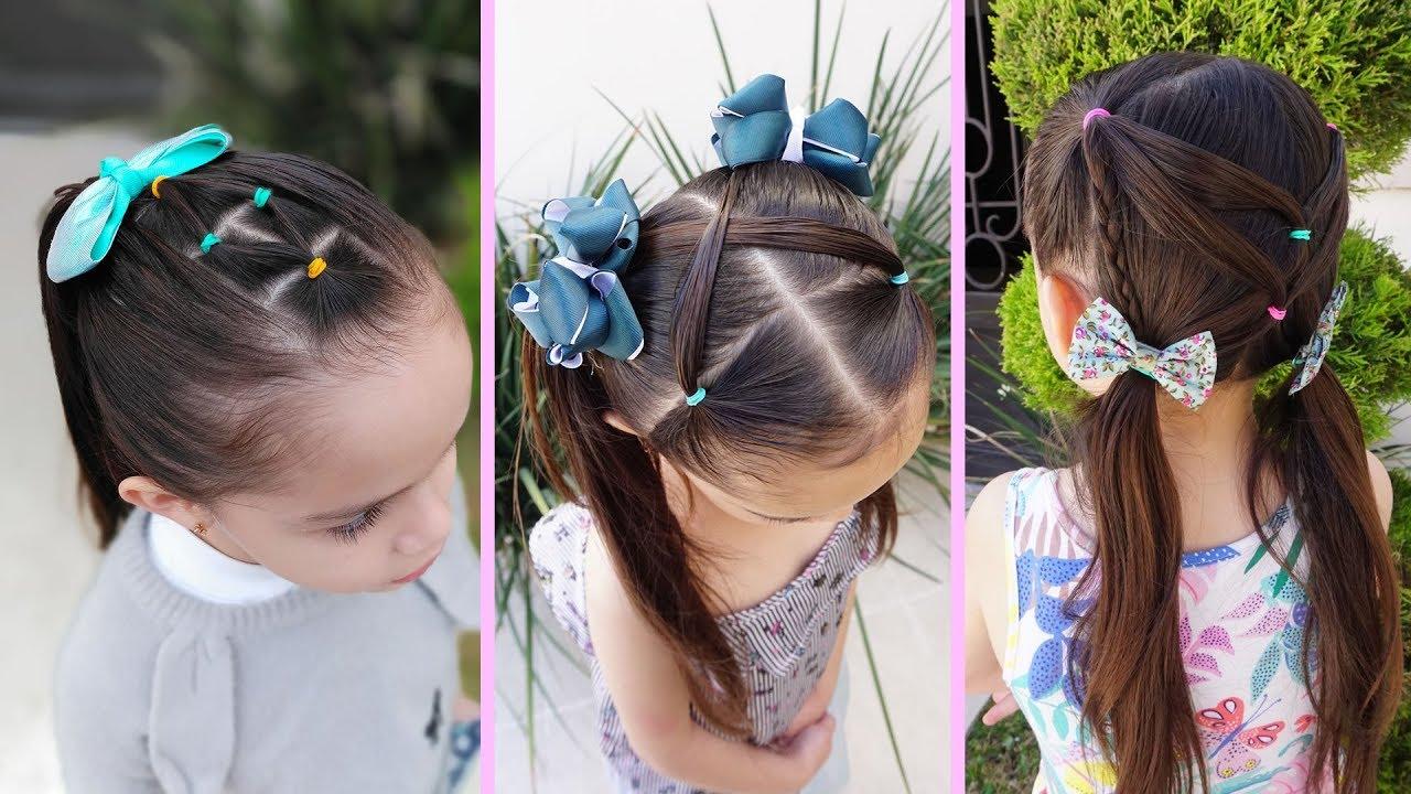 3 Peinados Fáciles para la Escuela para NIÑAS | May López