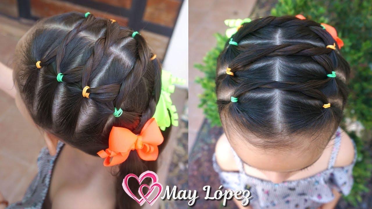 Peinado para niñas FACIL con coletas | May Lopez