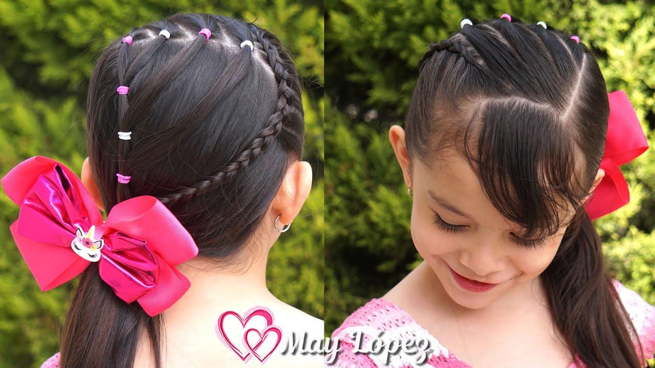 Peinado FÁCIL y bonito para NIÑAS